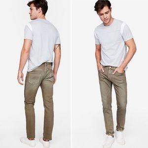 Express Slim Garment Dyed Stretch Jeans